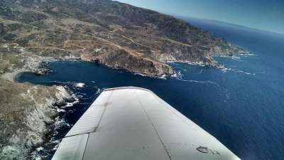 Catalina Island Airport in the sky